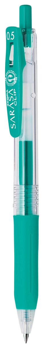 Zebra Ручка гелевая Sarasa Clip цвет бирюзовый306 306056Достоинство ручки Zebra Sarasa Clip - мягкость и плавность письма, аккуратные тонкие линии. Несомненный плюс этой модели - клип-прищепка, который позволяет прикреплять ручку к поверхностям практически любой толщины. Ручкой удобно писать: приталенный корпус с рифлением дает дополнительный контроль при письме. Каплевидная передняя часть с каучуковой подушечкой для пальцев предотвращает усталость руки. Диаметр шарика у этой модели всего 0,5 мм, что гарантирует очень тонкую линию письма.