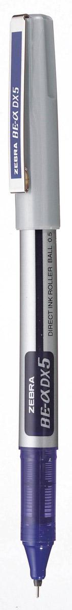 Zebra Ручка-роллер BE-& DX5 цвет чернил синий306 111020Ручка-роллер Zebra BE-& DX5, как и другие роллеры серии Zeb-Roller, может писать вверх ногами. Снабжена наконечником иглообразного типа из нержавеющей стали и стальным зажимом. Серию ручек-роллеров Zeb-Roller отличает разработанная компанией Zebra система прямой подачи чернил (Direct Ink System), позволяющая писать очень быстро и практически без нажима. Идеальная линия письма до последней капли чернил, запас которых виден в полупрозрачном окошке пластикового корпуса. Необычайно большой запас чернил усовершенствованной формулы эквивалентен нескольким сменным стержням стандартной шариковой ручки.