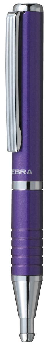 Zebra Ручка шариковая Slide синяя в фиолетовом корпусе305 072023В рабочем состоянии ручка раздвигается, приобретая длину обычной ручки, в закрытом виде очень компактна. Строгий стильный дизайн понравиться всем любителям классики. Модель идеально подходит для записных книжек и органайзеров.