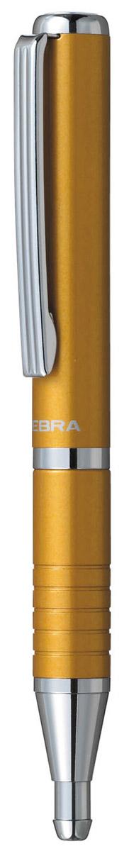 Zebra Ручка шариковая Slide цвет корпуса горчичный305 072044Шариковая ручка Zebra Slide идеально подходит для записных книжек и органайзеров. В рабочем состоянии ручка раздвигается, приобретая длину обычной ручки, в закрытом виде очень компактна. Строгий стильный дизайн понравится всем любителям классики.