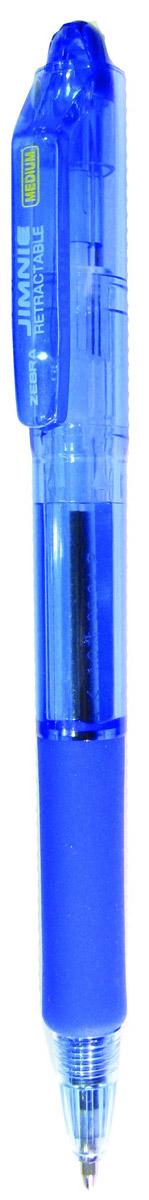 Zebra Ручка шариковая Jimnie Retractable цвет корпуса синий305 113020Zebra Jimnie Retractable - автоматический вариант шариковой ручки серии Jimnie. Тщательно продуманный эргономичный дизайн, каучуковая подушка для пальцев, пишущий шарик нового поколения, большой пластиковый зажим - ко всем этим достоинствам ручки Jimnie добавляется удобство и функциональность автоматической ручки.