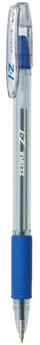 Zebra Ручка шариковая Z-1 цвет корпуса прозрачный синий