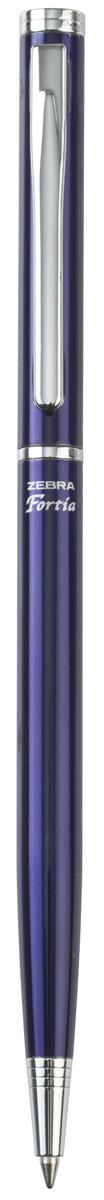 Zebra Ручка шариковая Fortia 500 цвет корпуса синий305 404020Шариковая ручка Zebra Fortia 500 имеет тонкий стильный корпус. Оснащена поворотным механизмом. Поставляется в подарочной картонной упаковке.