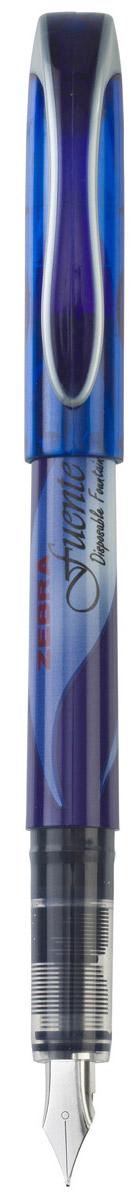 Zebra Ручка перьевая Fuente цвет корпуса синий839630Zebra Fuente - одноразовая перьевая ручка. Плавные выверенные линии сигарообразного корпуса безупречно сочетаются с футуристическим дизайном колпачка ручки. Увеличенный диаметр корпуса создает дополнительный комфорт при письме (рука меньше устает). Перо F обеспечивает тонкую, ровную, мягкую линию письма. Увеличенный объем чернил!
