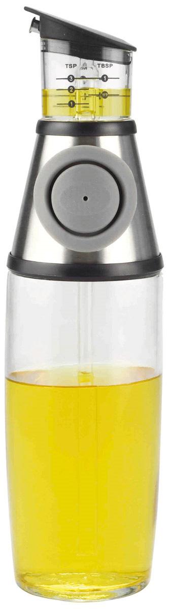 Диспенсер для масла и уксуса SinoGlass Press & Measure, 500 мл8400740Стильный диспенсер SinoGlass Press & Measure выполнен из высококачественного стекла, пластика, стали и силиконовой вставки. Изделие поможет вам добавить в блюдо необходимое количество масла или уксуса. Нужно просто нажать кнопку и жидкость из бутыли попадает в измерительную емкость. Стеклянный контейнер позволяет следить за уровнем и легко определить нужное вам количество жидкости. Измерения с делениями (чайные ложки, столовые ложки и миллилитры) расположены на каждой стороне и легко читаются. Изделие легко моется. Высота диспенсера: 28 см. Диаметр основания диспенсера: 6,5 см.