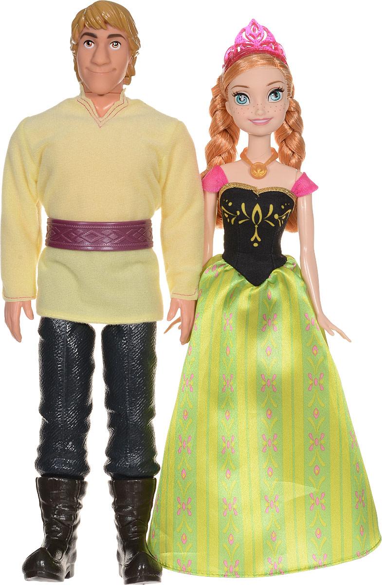 Disney Frozen Набор кукол Анна и Кристоф CMT82CMT82Кристоф и Анна - очаровательная парочка диснеевских героев, которая ведет основную романтическую линию в мультфильме Холодное сердце. Замечательные куклы в красочных нарядах идеально подходят друг другу. На Анне очень красивое, утонченное платье с зеленой юбкой из узорной ткани и черным бархатным корсетом. Ее волосы заплетены в две косы и украшены сверкающей диадемой. Кристоф одет в рубаху, подпоясанную узорчатым поясом, грубые штаны и сапоги. Прекрасные рыжие волосы куклы Анны можно расплетать и расчесывать, так как они прошиты. У кукол подвижные руки, ноги и головы. Анна - принцесса выдуманного северного королевства Эренделл, а Кристоф - обычный парень, который промышляет тем, что добывает лед. Однако между героями завязалась настоящая дружба, а потом начали проявляться и более романтические чувства. Ведь Анна, несмотря на королевское происхождение, лишена высокомерия и любит общаться с простым людом. А Кристоф, к тому же, не такой уж и простой, каким кажется, он смог...