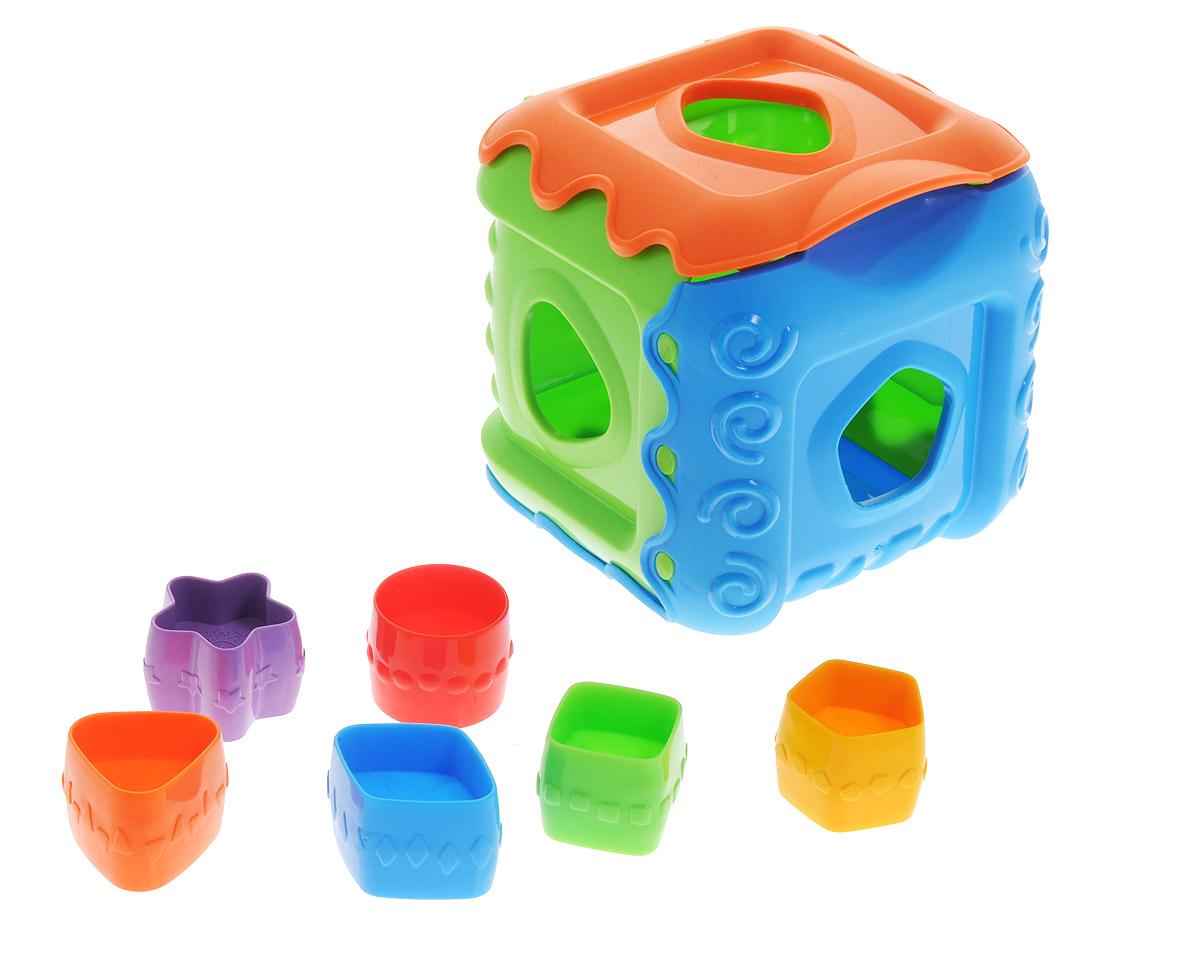 Нордпласт Сортер КубикН-784Сортер Нордпласт Кубик обязательно понравится вашему малышу и доставит ему много удовольствия от часов игры. Игрушка представляет собой куб с отверстиями разной формы, куда нужно вставлять соответствующие фигуры. В комплекте имеется 6 разноцветных деталей разной геометрической формы, которые малышу нужно поместить в кубик, продев их через подходящее отверстие. Логические игры-сортеры вырабатывают умение узнавать и различать форму или изображение предмета, его цвет, развивают абстрактное мышление, моторику, а также учат классифицировать, обобщать и сравнивать. Порадуйте малыша такой яркой игрушкой!