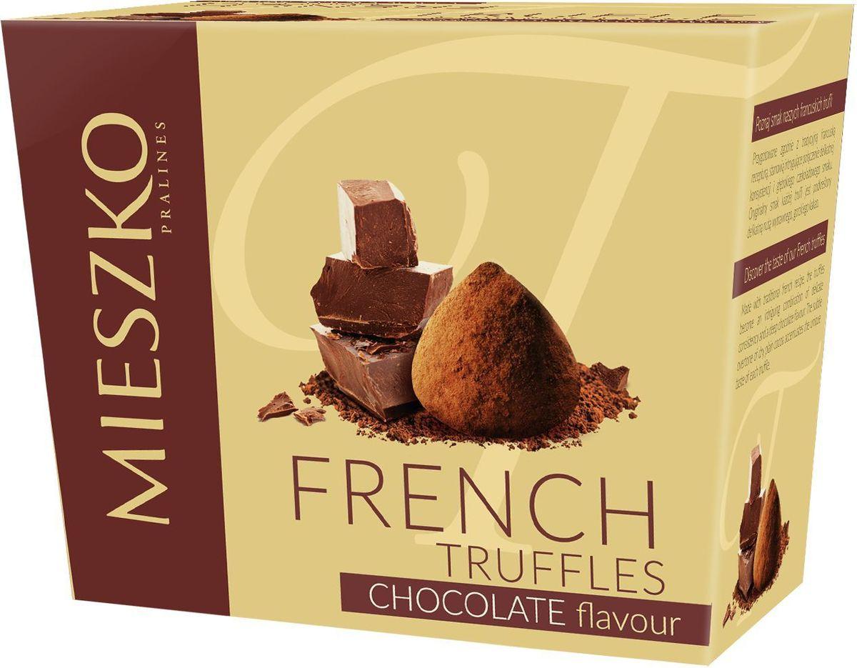 Mieszko Трюфель Французский со вкусом шоколада набор шоколадных конфет, 175 г15107Французские трюфели Mieszko являются идеальным выбором при поиске чрезвычайно привлекательного и небольшого подарка. Это сложное кондитерское изделие имеет удивительно уникальный шоколадный аромат и мягкий вкус. Своим уникальным характером французские трюфели обязаны своим горьким нотам натурального какао, вкус которого оставит человека в отличном настроении.