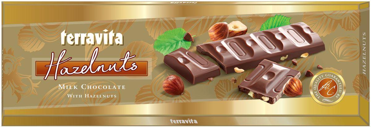 Terravita Шоколад молочный с лесным орехом, 225 г