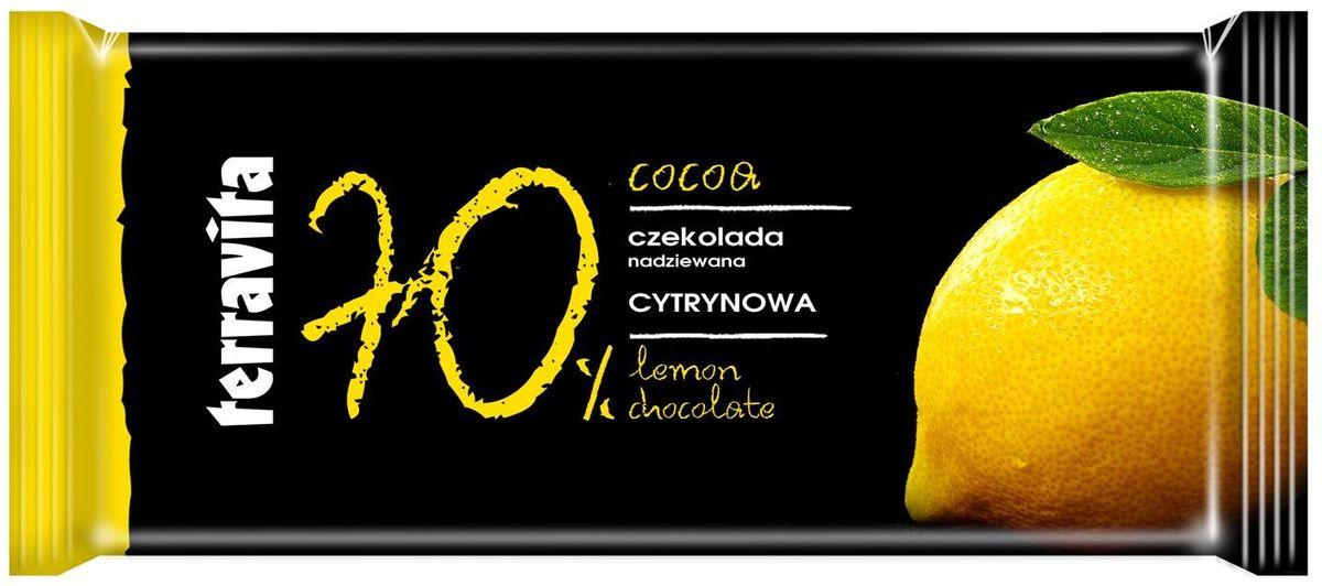 Terravita Шоколад темный с лимоном, 100 г
