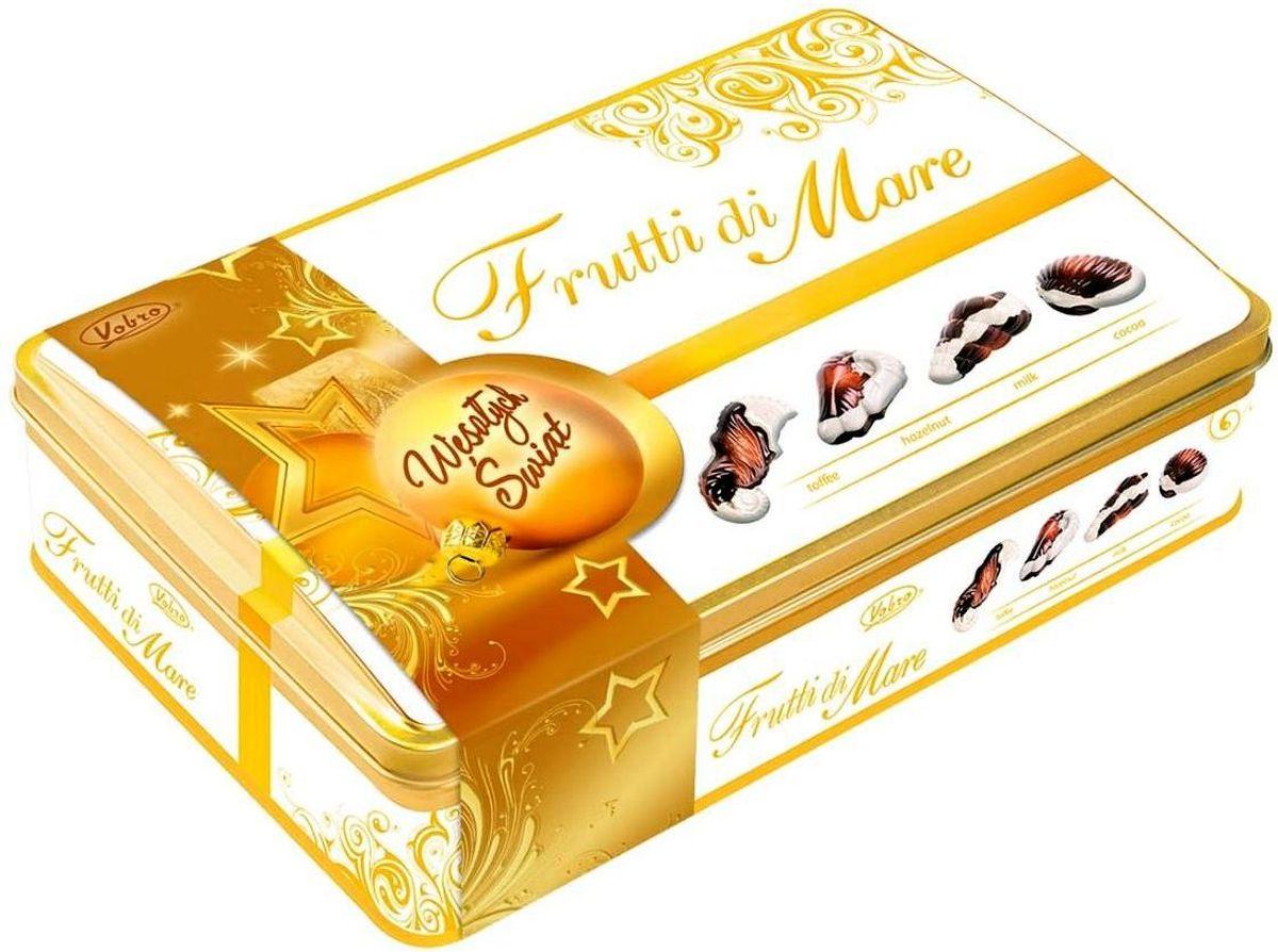 Vobro Frutti di Mare набор шоколадных конфет в виде морских ракушек, 350 г (жестяная коробка)9056
