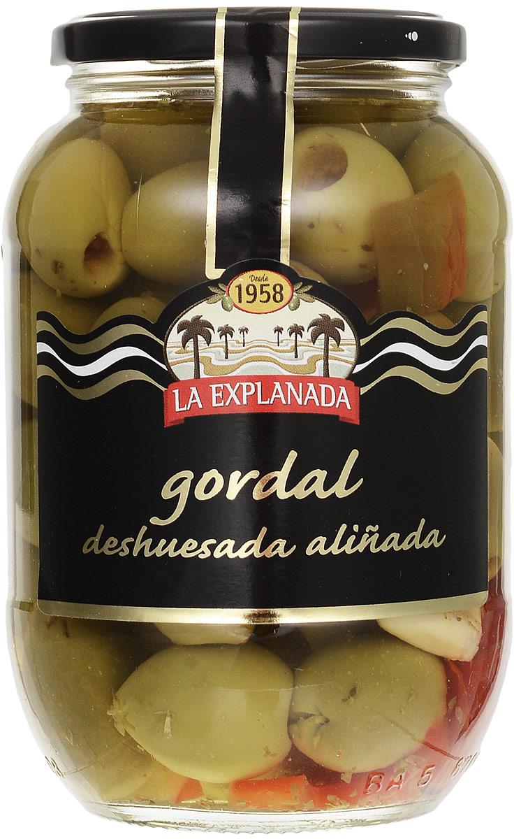 La Explanada Гордаль оливки гигантские зеленые без косточек, 835 г