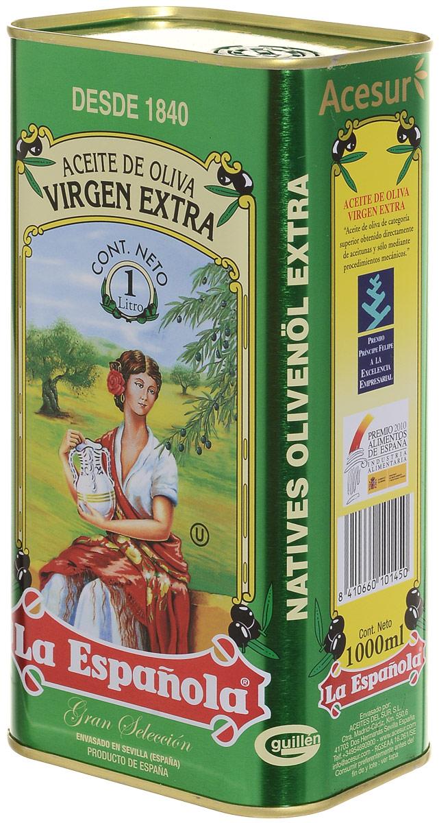 La Espanola Extra Virgin масло оливковое, 1 л8410660101450Оливковое масло La Espanola Extra Virgin производится в Испании группой компаний Aceites del Sur, которая производит оливковое масло с 1840 года, что сделало ее экспертом в этой области. Использование традиционных методов производства оливкового масла и строгий контроль качества на каждом этапе производственной цепочки позволяет снабжать рынок продукцией самого высокого качества.Acesur Group – производитель La Espanola – занимает второе место на Испанском рынке масла.