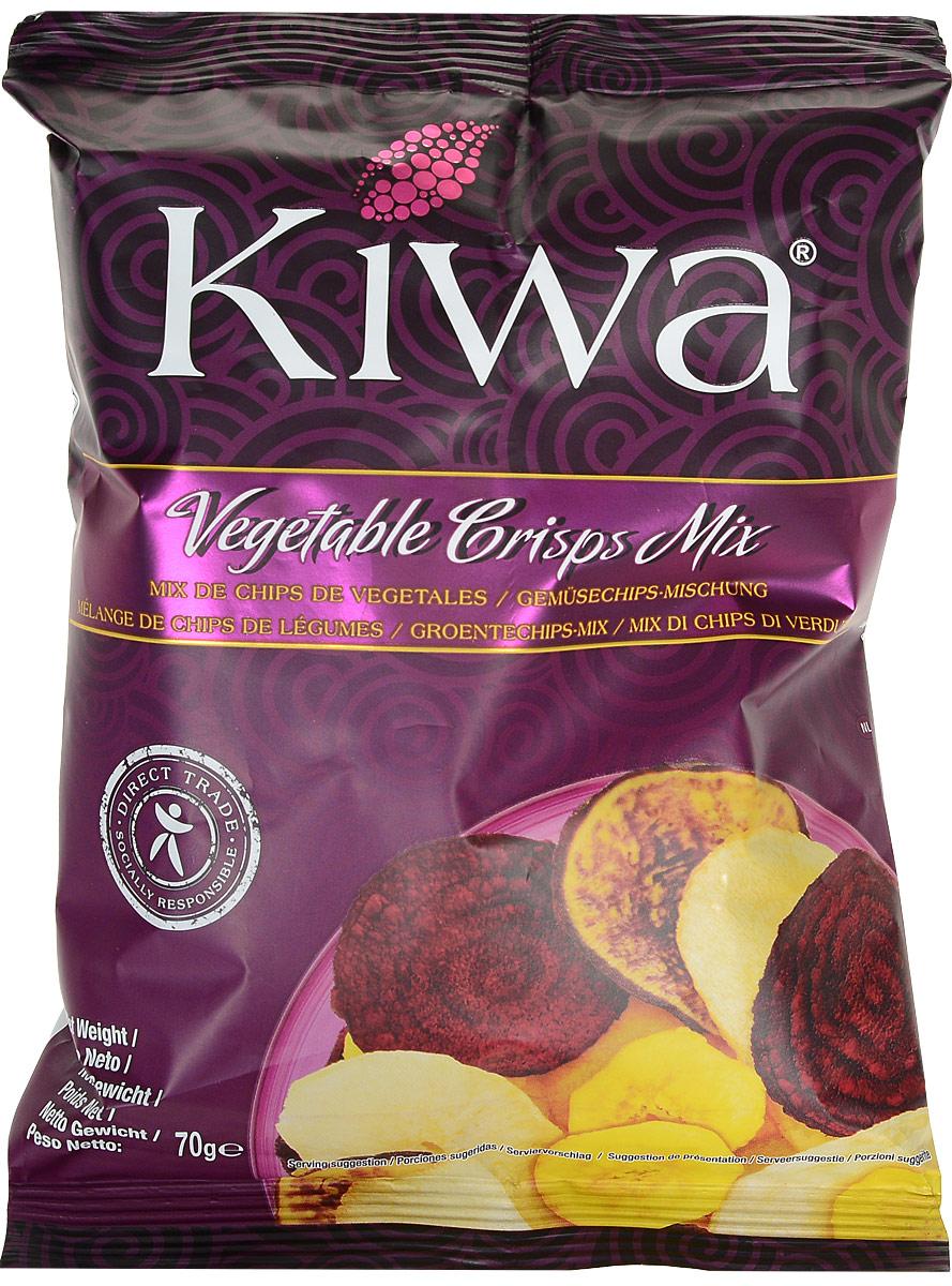 Kiwa ассорти овощных чипсов, 70 гEKIMI354Для производства уникальных и неповторимых чипсов Kiwa различные овощи закупаются непосредственно у фермеров Эквадора, поэтому данная продукция обладает потрясающе насыщенным и натуральным вкусом.