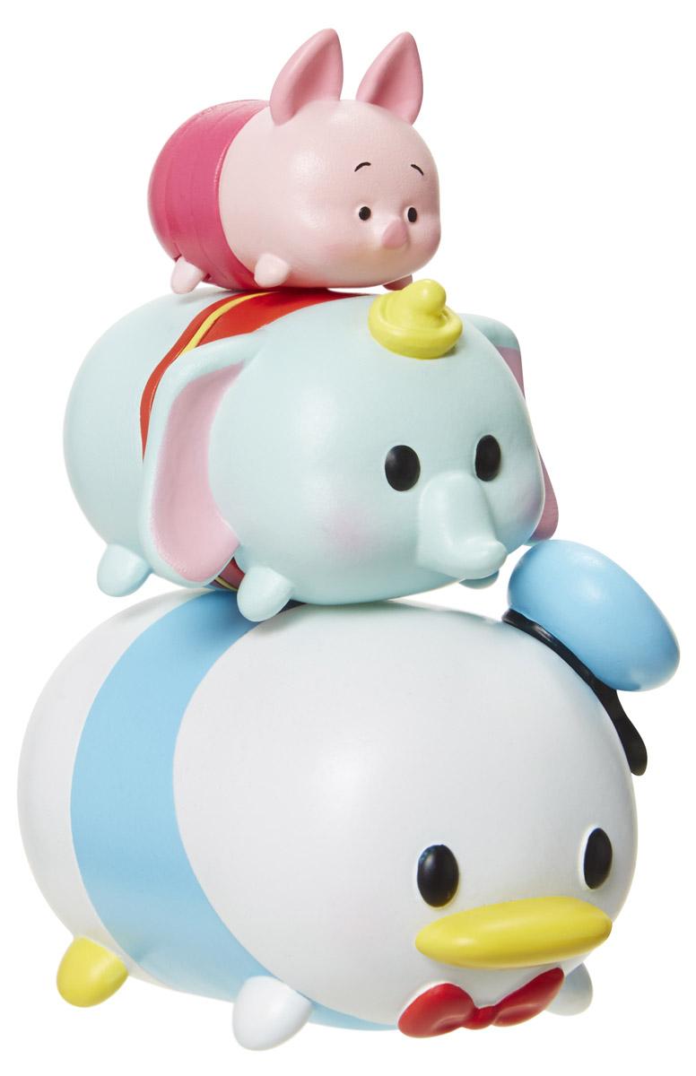 Tsum Tsum Набор фигурок Series 1 3 шт 980080980080Tsum Tsum - это небольшие коллекционные фигурки, изображающие различных персонажей детских мультфильмов Уолта Диснея. Они очень яркие, качественно сделаны и выглядят весьма привлекательно. В набор входят 3 фигурки - Пятачок, Дональд Дак и слоненок Дамбо. Все они разных размеров: большого, среднего и мини. Отличительной особенностью игрушек является то, что их можно сцеплять друг с другом, усаживая на спины - таким образом, у вас получится подобие оригинальной башенки.