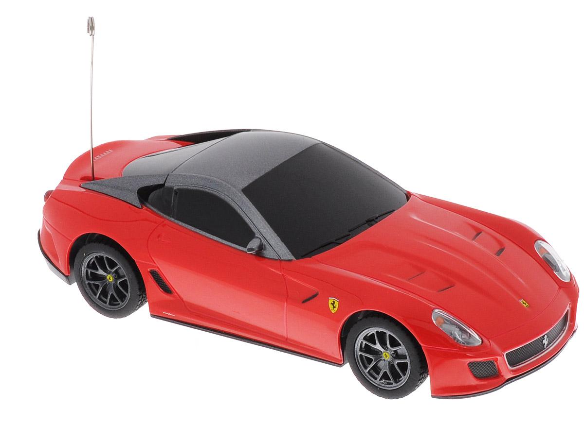 Rastar Радиоуправляемая модель Ferrari 599 GTO цвет красный масштаб 1:3260400Радиоуправляемая модель Rastar Ferrari 599 GTO является точной копией автомобиля Ferrari в масштабе 1/32. Модель обязательно вызовет интерес, как у детей, так и у взрослых. Машина изготовлена из высококачественного пластика с металлическими элементами, шины выполнены из мягкой резины. Управление игрушкой происходит при помощи пульта, который выполнен в виде панели авто с рулем. Пульт управления работает на частоте 27 MHz. Автомобиль может перемещаться вперед и по часовой стрелке. Ваш ребенок увлеченно будет играть с моделью, придумывая различные истории и устраивая соревнования. Порадуйте его таким замечательным подарком! Для работы автомобиля требуются 2 батарейки напряжением 1,5V типа АА (не входят в комплект). Для работы пульта управления требуются 2 батарейки напряжением 1,5V типа АА (не входят в комплект).