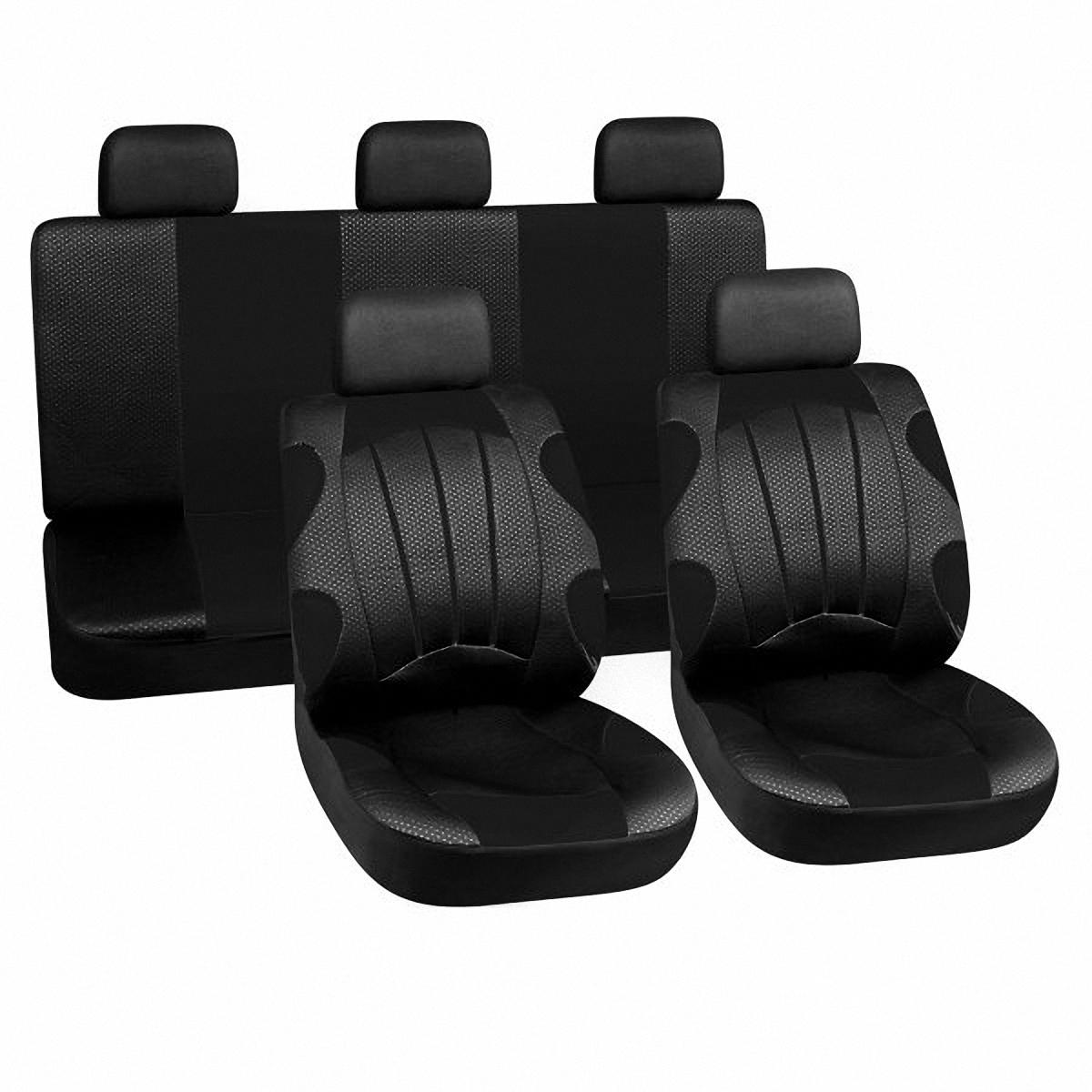 Чехлы автомобильные Skyway. LUX-28701 BKLUX-28701 BKВам не хватает уюта и комфорта в салоне? Самый лучший способ изменить это – одеть ваши сидения в чехлы SKYWAY. Изготовленные из полиэстера они защитят ваш салон от износа и повреждений. Более плотный поролон позволяет чехлам полностью прилегать к сидению автомобиля и меньше растягиваться в процессе использования. Ткань чехлов на сиденья SKYWAY не вытягивается, не истирается, великолепно сохраняет форму, устойчива к световому и тепловому воздействию, а ровные, крепкие швы не разойдутся даже при сильном натяжении.