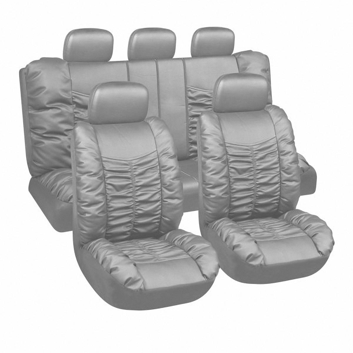 Чехлы автомобильные Skyway. LUX-9469 GYLUX-9469 GYВам не хватает уюта и комфорта в салоне? Самый лучший способ изменить это - одеть ваши сидения в чехлы SKYWAY. Изготовленные из искусственной кожи они защитят ваш салон от износа и повреждений. Более плотный поролон позволяет чехлам полностью прилегать к сидению автомобиля и меньше растягиваться в процессе использования. Ткань чехлов на сиденья SKYWAY не вытягивается, не истирается, великолепно сохраняет форму, устойчива к световому и тепловому воздействию, а ровные, крепкие швы не разойдутся даже при сильном натяжении.
