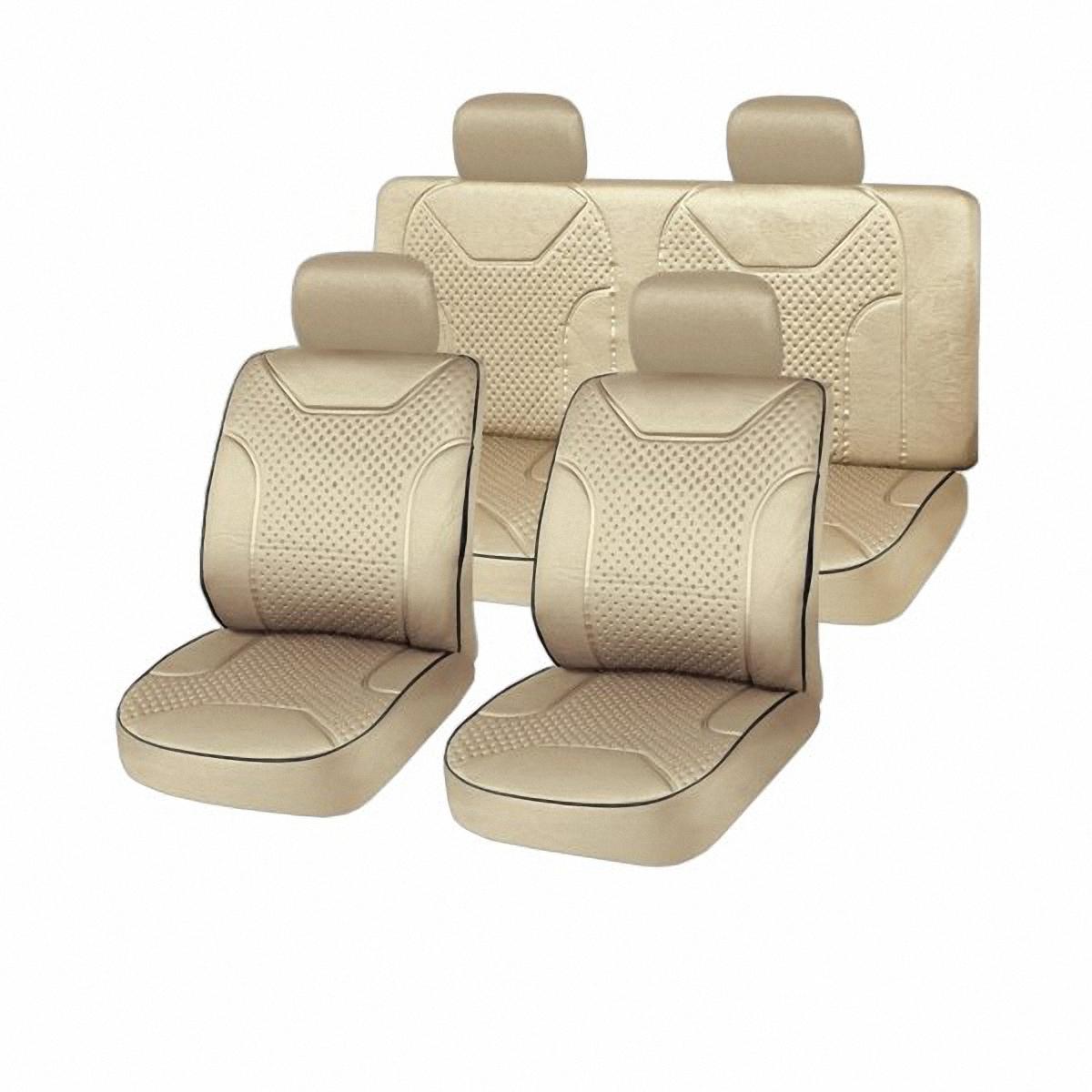Чехлы автомобильные Skyway. S01301018S01301018Вам не хватает уюта и комфорта в салоне? Самый лучший способ изменить это – «одеть» ваши сидения в чехлы SKYWAY. Изготовленные из прочного материала они защитят ваш салон от износа и повреждений. Более плотный поролон позволяет чехлам полностью прилегать к сидению автомобиля и меньше растягиваться в процессе использования. Ткань чехлов на сиденья SKYWAY не вытягивается, не истирается, великолепно сохраняет форму, устойчива к световому и тепловому воздействию, а ровные, крепкие швы не разойдутся даже при сильном натяжении.