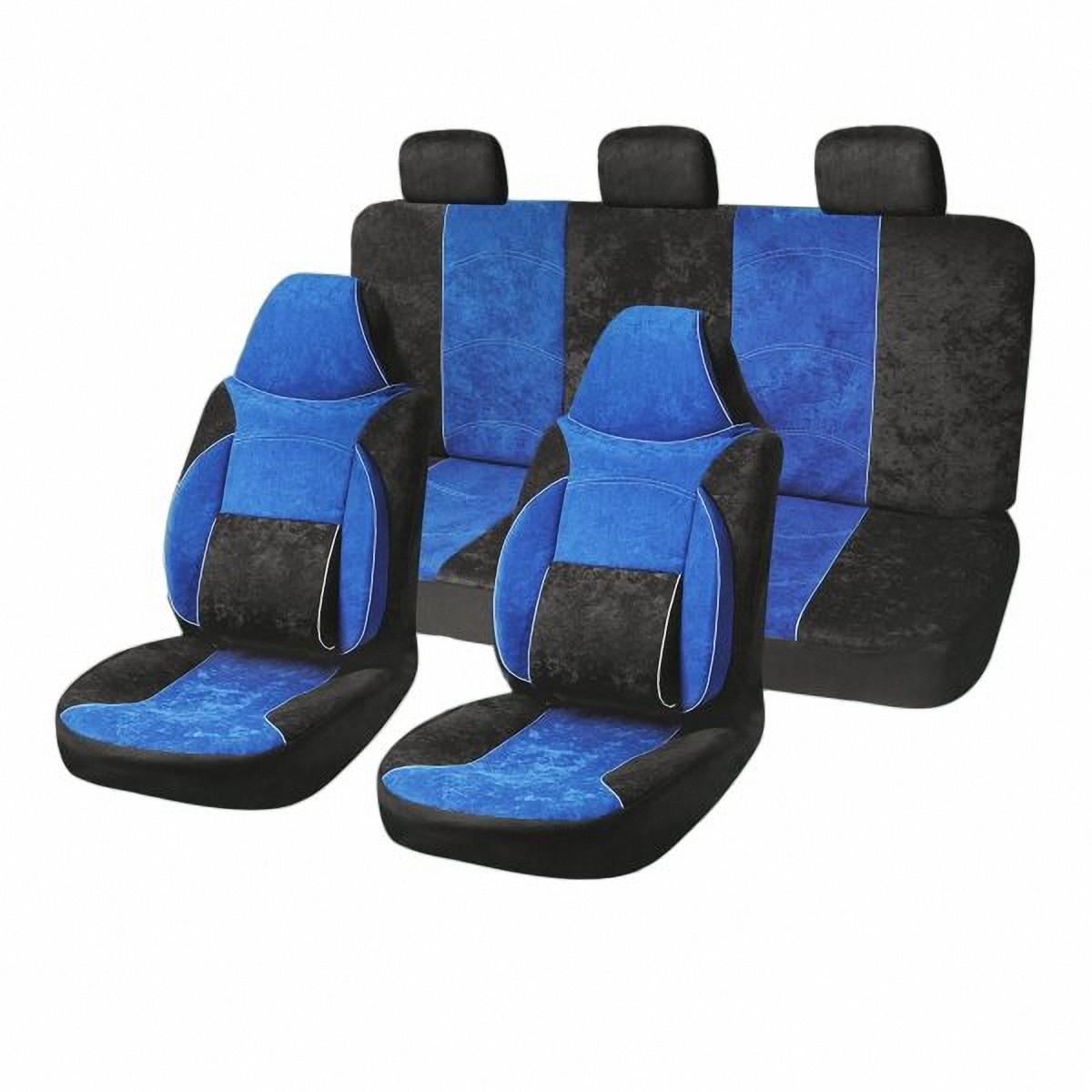 Чехлы автомобильные Skyway. S01301034S01301034Комплект классических универсальных автомобильных чехлов Skyway S01301034 изготовлен из велюра. Чехлы защитят обивку сидений от вытирания и выцветания. Благодаря структуре ткани, обеспечивается улучшенная вентиляция кресел, что позволяет сделать более комфортными долгое пребывание за рулем во время дальней поездки.