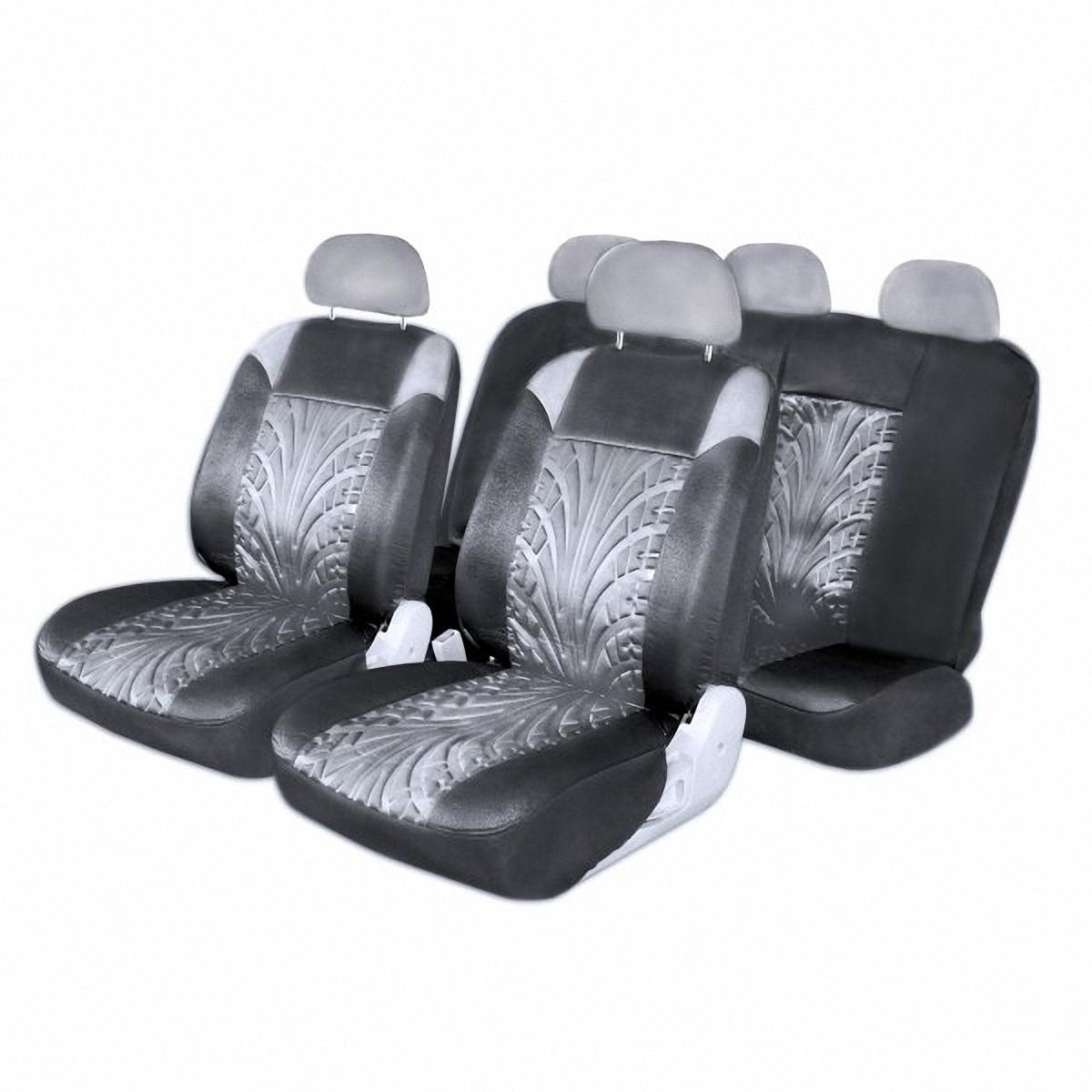 Чехлы автомобильные Skyway. S01301045S01301045Комплект классических универсальных автомобильных чехлов Skyway S01301045 изготовлен из полиэстера. Чехлы защитят обивку сидений от вытирания и выцветания. Благодаря структуре ткани, обеспечивается улучшенная вентиляция кресел, что позволяет сделать более комфортными долгое пребывание за рулем во время дальней поездки.