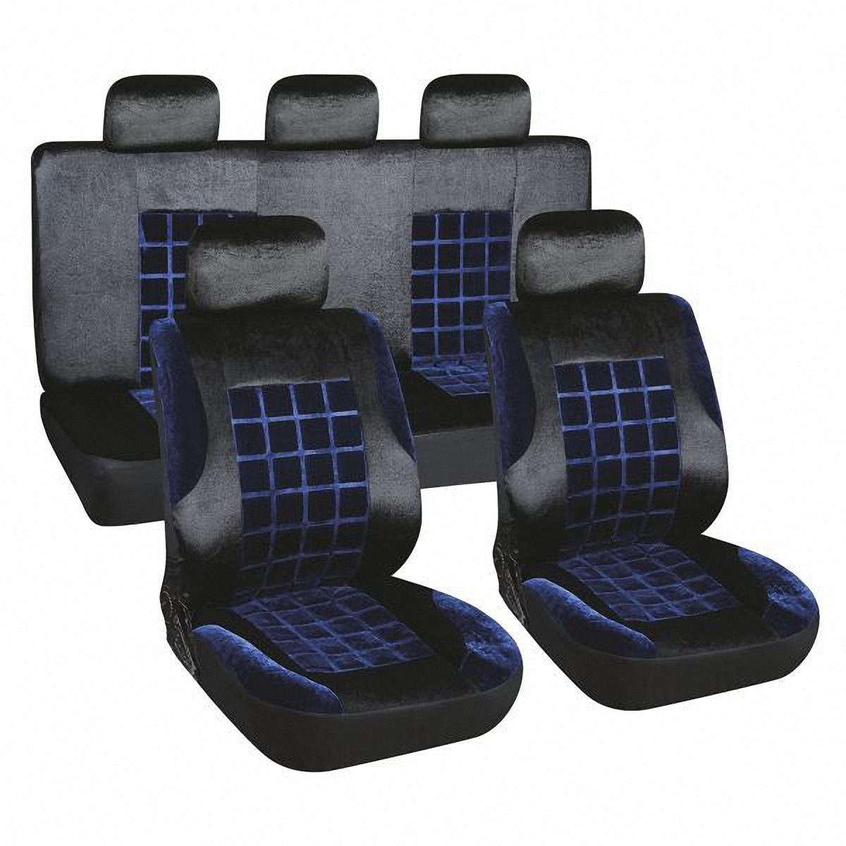 Чехлы автомобильные Skyway. S01301155S01301155Комплект классических универсальных автомобильных чехлов Skyway S01301155 изготовлен из вельвета. Чехлы защитят обивку сидений от вытирания и выцветания. Благодаря структуре ткани, обеспечивается улучшенная вентиляция кресел, что позволяет сделать более комфортными долгое пребывание за рулем во время дальней поездки.