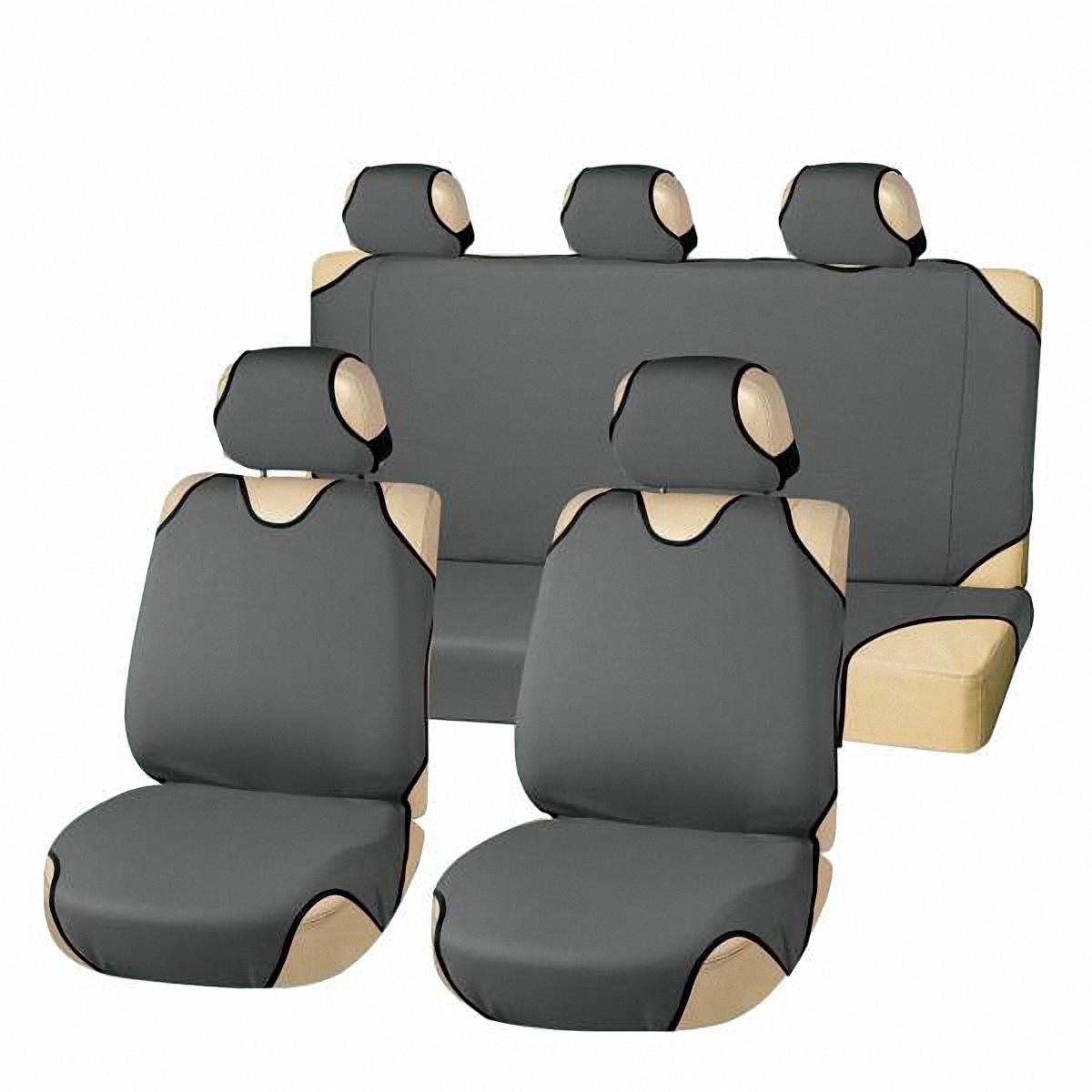 Чехлы-майки автомобильные Skyway. S01303007S01303007Комплект универсальных автомобильных чехлов Skyway изготовлен из полиэстера. Благодаря многослойной структуре материала изделие точно повторяет контур сидений. Конструкция всех предметов комплекта разработана специально для их максимально удобной и лёгкой установки на сидения вашего автомобиля. Комплектация: Чехлы на подголовники - 5 шт. Чехол-майка на передние сиденья - 2 шт. Чехол-майка на заднее сиденье - 1 шт. Чехол-майка на спинку заднего сиденья - 1 шт.