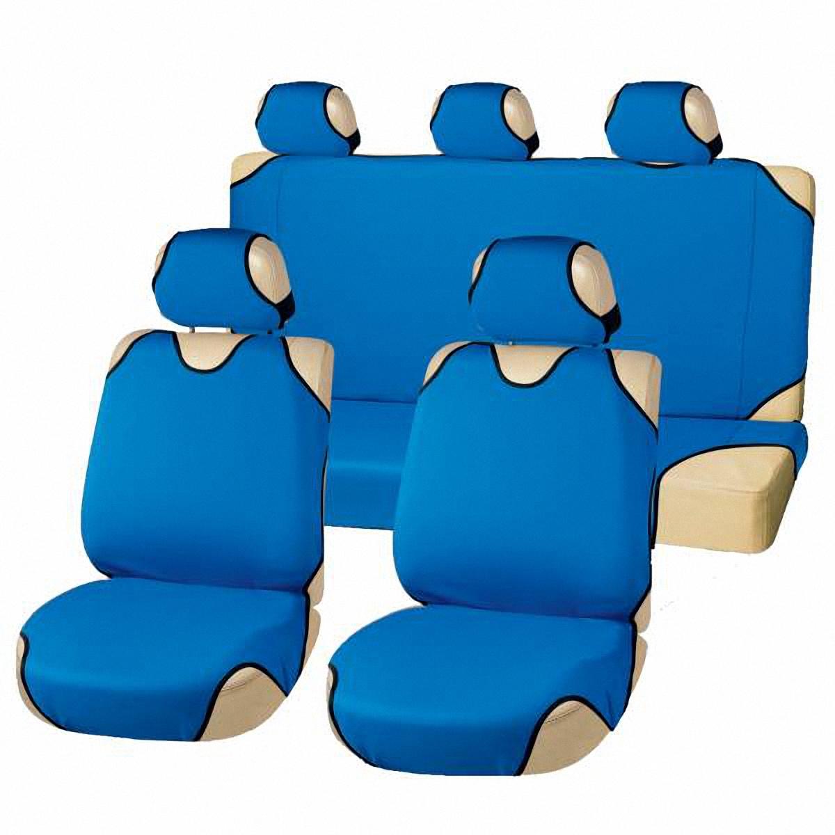 Чехлы-майки автомобильные Skyway. S01303008S01303008Комплект универсальных автомобильных чехлов Skyway изготовлен из полиэстера. Благодаря многослойной структуре материала изделие точно повторяет контур сидений. Конструкция всех предметов комплекта разработана специально для их максимально удобной и лёгкой установки на сидения вашего автомобиля. Комплектация: Чехлы на подголовники - 5 шт. Чехол-майка на передние сиденья - 2 шт. Чехол-майка на заднее сиденье - 1 шт. Чехол-майка на спинку заднего сиденья - 1 шт.