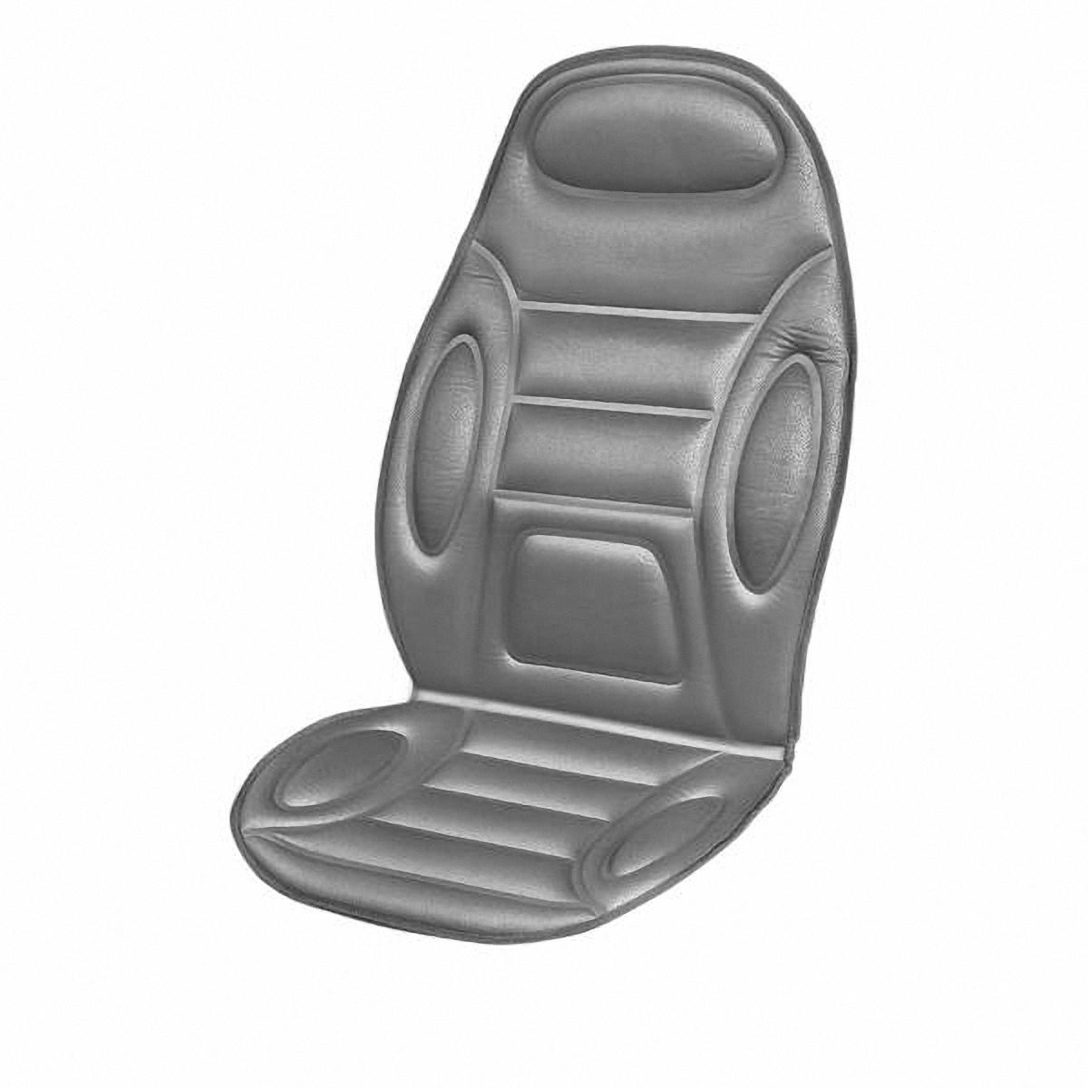 Накидки автомобильные Skyway, массажные, с подогревом. S02201014S02201014 (Накидка)Накидка сиденья массажная SKYWAY вибромассаж, подогрев поясничной зоны 12 V Темно-серый S02201014 - предназначена для использования дома,в офисе или в автомобиле. Массажная накидка на кресло незаменима для людей, ведущих малоподвижный образ жизни, таких как водители, офисные работники, люди преклонного возраста. Она будет полезна и людям, занимающимся спортом, для снятия избыточного напряжения мышц, после тренировки. Подогрев на сиденья – вещь незаменимая в автомобиле, особенно в сезонные холода. Легкий в установке, подогрев на сиденья быстро нагревается до нужной температуры и подходит для всех размеров сидений.