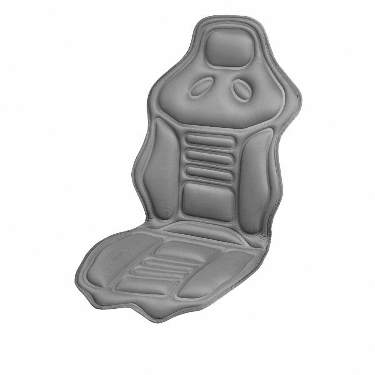 Накидка на сиденье Skyway, массажная, с подогревомS02201015 (Накидка)Массажная накидка на сиденье Skyway с функцией подогрева имеет 2 вида массажа, продолжительный или пульсирующий, 5 режимов интенсивности. Зоны массажа: нижняя и верхняя части спины и бедра. Есть пульт управления и удобный карман для его хранения в нижней части накидки с правой стороны. Функция обогрева предназначена для создания комфортной температуры 37-40 градусов и расположена в поясничной зоне. Оснащена предохранителем, который в случае нежелательного перепада напряжения защитит изделие и бортовую сеть автомобиля. Накидка подходит для всех размеров сидений. Напряжение: 12В. Количество режимов массажа: 5. Количество скоростей: 3. Температура подогрева: 37-40°C.