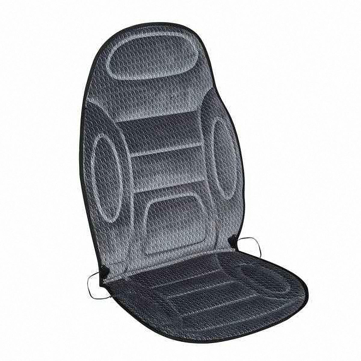 Подогрев для сиденья Skyway, со спинкой, 120 х 51 смS02201017В подогреве для сиденья Skyway в качестве теплоносителя применяется углеродный материал. Такой нагреватель обладает феноменальной гибкостью и прочностью на разрыв в отличие от аналогов, изготовленных из медного или иного металлического провода. Особенности: - Универсальный размер. - Снижает усталость при управлении автомобилем. - Обеспечивает комфортное вождение в холодное время года. - Простая и быстрая установка. - Умеренный и интенсивный режим нагрева. - Терморегулятор для изменения интенсивности нагрева. - Защита крепления шнура питания к подогреву. Устройство подключается к прикуривателю на 12V.