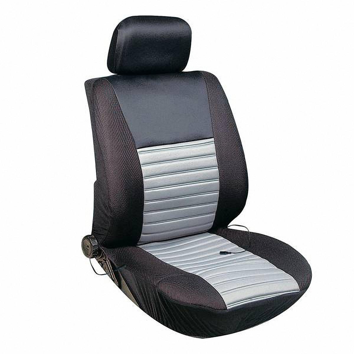 Чехол на сиденье Skyway, с подогревом. S02202004S02202004Чехол на сиденье Skyway, изготовленный из велюра, снижает усталость при управлении автомобилем и обеспечивает комфортное вождение в холодное время года. Подогрев сиденья с терморегулятором (2 режима). В качестве теплоносителя применяется углеродный материал. Такой нагреватель обладает феноменальной гибкостью и прочностью на разрыв в отличие от аналогов, изготовленных из медного или иного металлического провода. Устройство подключается к прикуривателю на 12V. Размер чехла: 116 х 56 см.