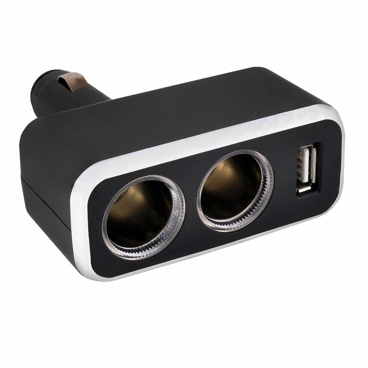Разветвитель прикуривателя Skyway, 2 выхода + USB. S02301003S02301003Разветвитель прикуривателя Skyway позволяет подключать устройства, имеющие стандартный разъем под прикуриватель, плюс устройство, имеющее разъем USB (блоки питания для ноутбука, кпк, сотового телефона, GPS-навигатора, антирадара, пылесоса, холодильника, различные зарядные устройства и многое другое). Устройство вращается на 180°, вверх и вниз. Устройство используется при мощности 7А. Общая мощность 80 Ватт. Предохранитель 10А. Потребляемая мощность 12-24 В. Количество гнезд: 2. Количество USB-портов: 1.