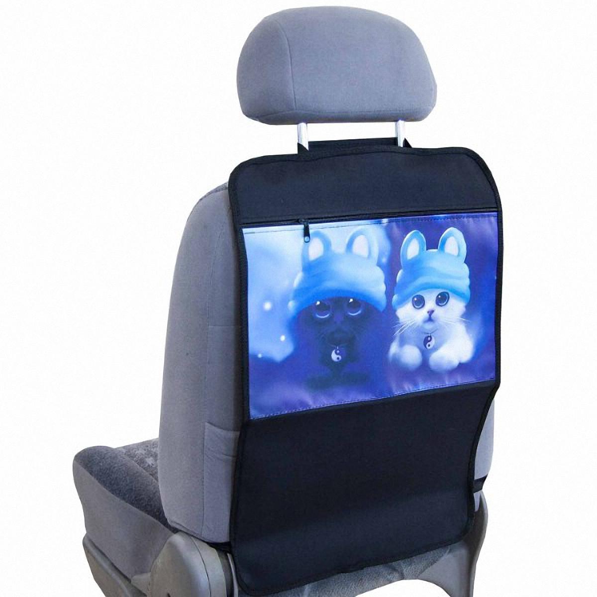 Накидка-органайзер защитная Skyway, на спинку сидения, 37 х 55 см. S06101005S06101005Защитная накидка-органайзер Skyway изготовлена из материалов, отличающихся высокими эксплуатационными характеристиками, благодаря чему в течение длительного времени сохраняет презентабельный внешний вид. Ткань накидки устойчива к механическому воздействию, а также является достаточно прочной и плотной для того, чтобы не пропустить жидкости и другие источники загрязнений к обивке сидений. А красочный рисунок не даст заскучать вашему ребенку в дальней дороге. Размер изделия: 37 х 55 см.