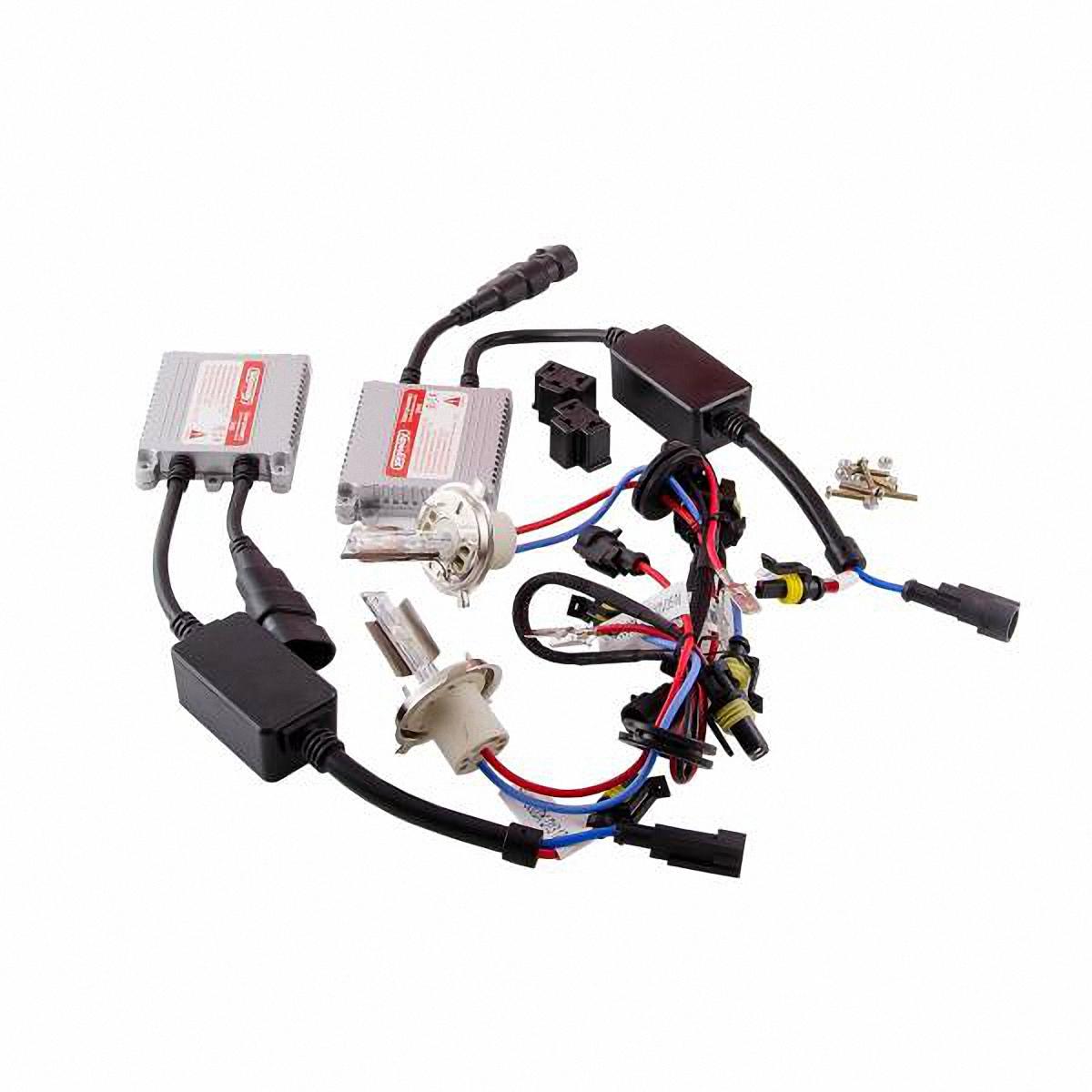 Skyway Автолампа ксенон H4. SH4 4300K D13 12V35WSH4 4300K D13 12V35WКомплектация: Лампа газоразрядная ксеноновая – 2 шт. Блок розжига – 2 шт. Винты для блока розжига – 6 шт. Гарантийный талон – 1 шт. Инструкция - 1 шт.