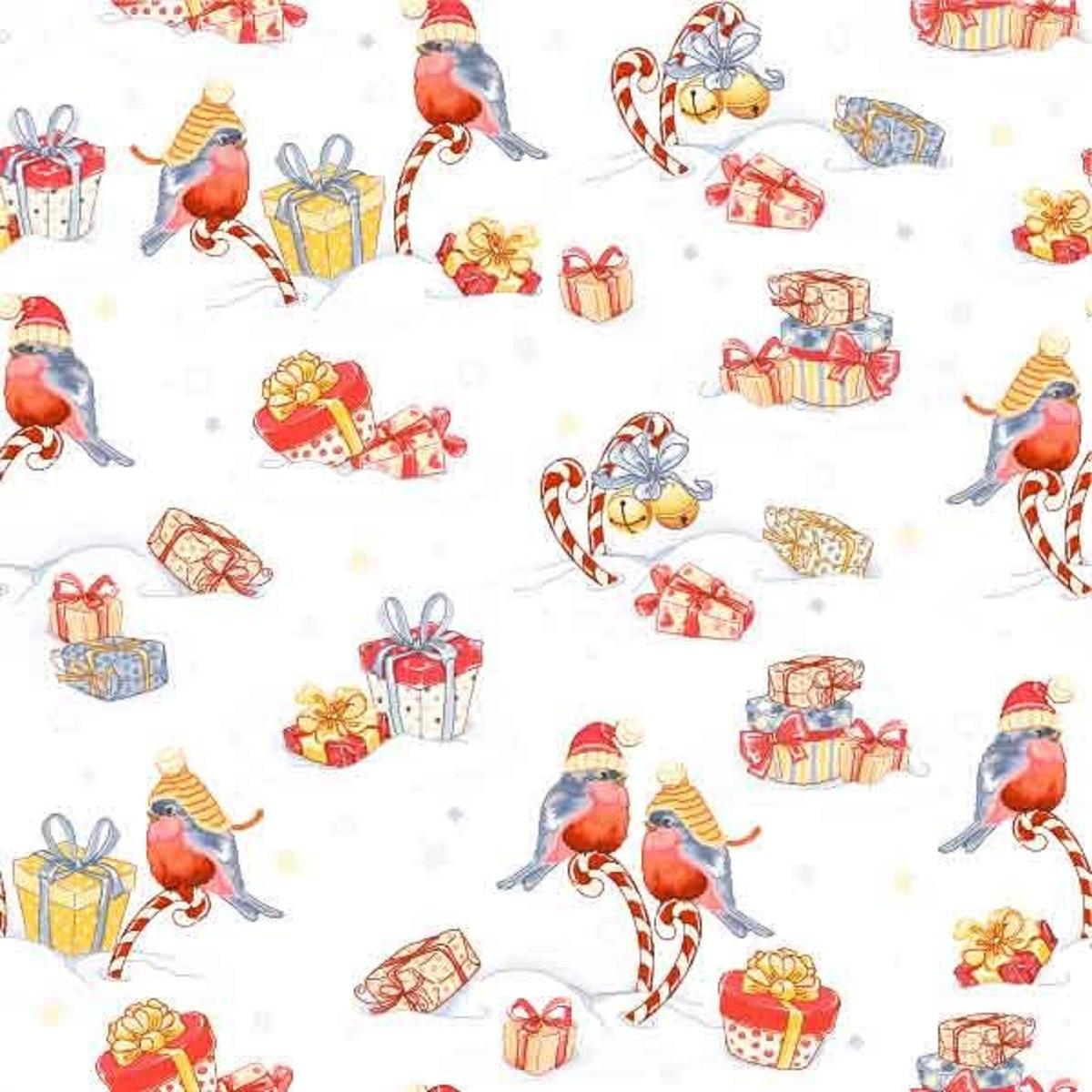 Салфетки бумажные Gratias Снегири и подарки, трехслойные, 33 х 33 см, 20 шт92292Для бытового и санитарно-гигиенического назначения одноразового использования.