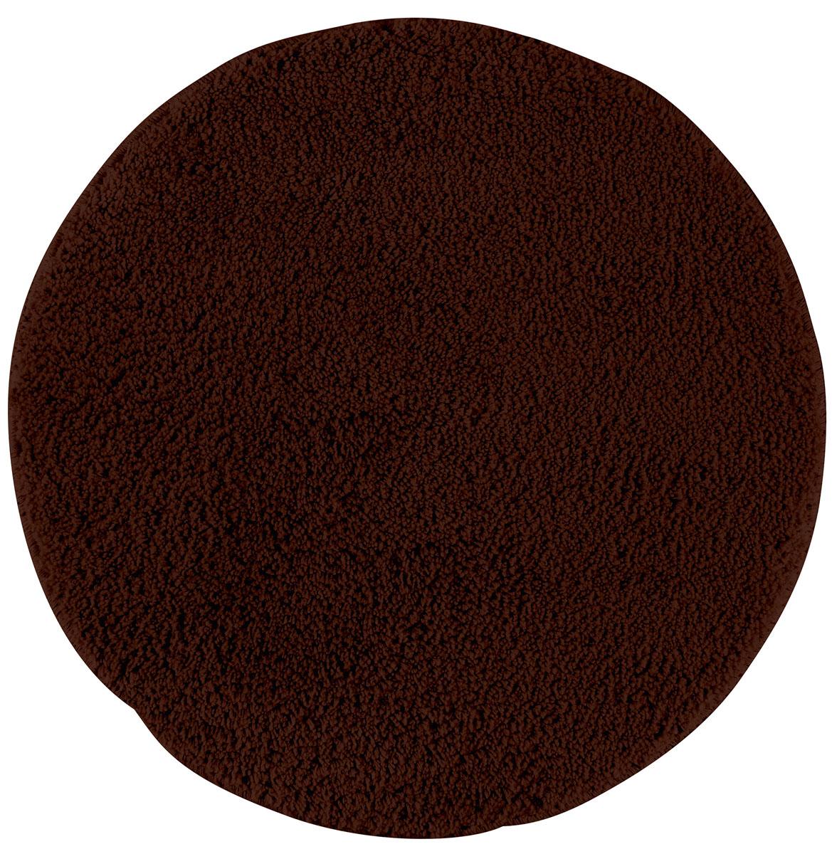 Коврик для ванной Axentia, противоскользящий, цвет: коричневый, диаметр 50 см116067Круглый коврик для ванной комнаты Axentia выполнен из высококачественной микрофибры. Противоскользящее основание изготовлено из термопластичной резины и подходит для полов с подогревом. Коврик стеганый, мягкий и приятный на ощупь, отлично впитывает влагу и быстро сохнет. Высокая износостойкость коврика и стойкость цвета позволит вам наслаждаться покупкой долгие годы. Можно стирать в стиральной машине. Диаметр коврика: 50 см. Высота ворса: 1,5 см.