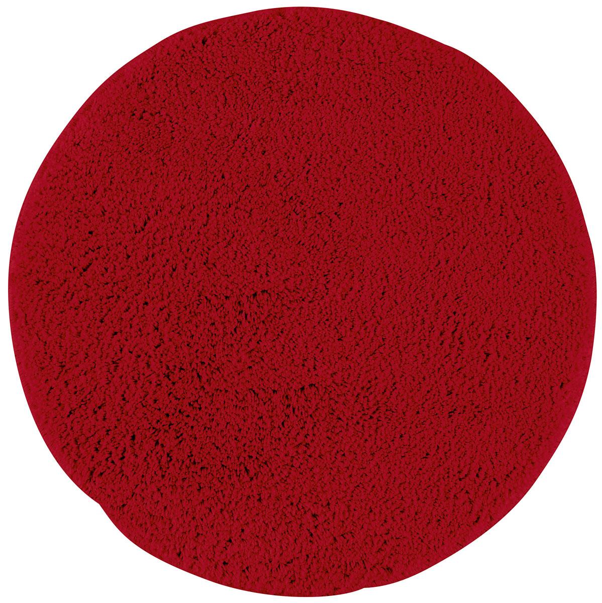 Коврик для ванной Axentia, противоскользящий, цвет: красный, диаметр 50 см116069Круглый коврик для ванной комнаты Axentia выполнен из высококачественной микрофибры. Противоскользящее основание изготовлено из термопластичной резины и подходит для полов с подогревом. Коврик стеганый, мягкий и приятный на ощупь, отлично впитывает влагу и быстро сохнет. Высокая износостойкость коврика и стойкость цвета позволит вам наслаждаться покупкой долгие годы. Можно стирать в стиральной машине. Диаметр коврика: 50 см. Высота ворса: 1,5 см.
