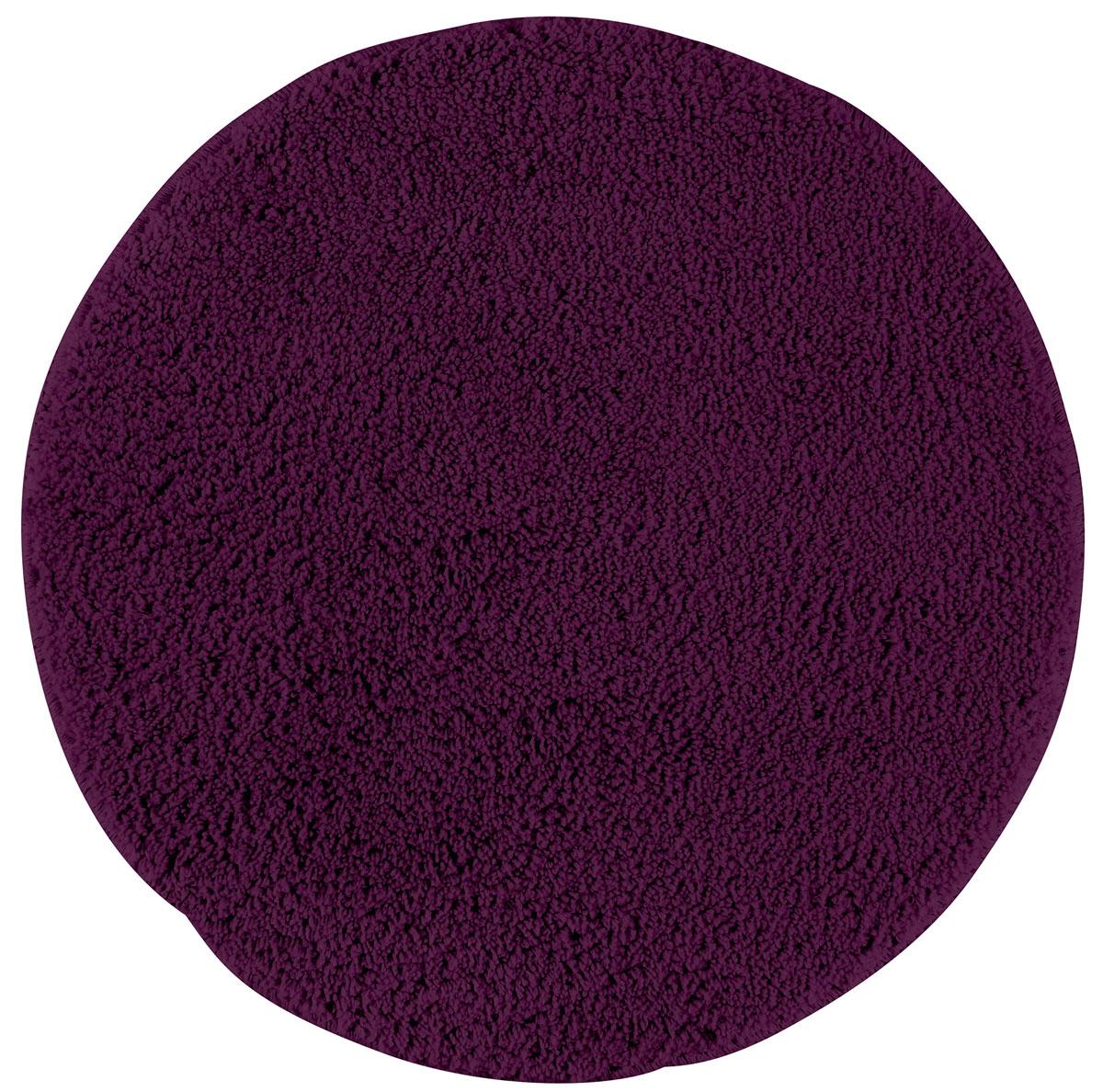Коврик для ванной Axentia, противоскользящий, цвет: фиолетовый, диаметр 50 см116066Круглый коврик для ванной комнаты Axentia выполнен из высококачественной микрофибры. Противоскользящее основание изготовлено из термопластичной резины и подходит для полов с подогревом. Коврик стеганый, мягкий и приятный на ощупь, отлично впитывает влагу и быстро сохнет. Высокая износостойкость коврика и стойкость цвета позволит вам наслаждаться покупкой долгие годы. Можно стирать в стиральной машине. Диаметр коврика: 50 см. Высота ворса: 1,5 см.