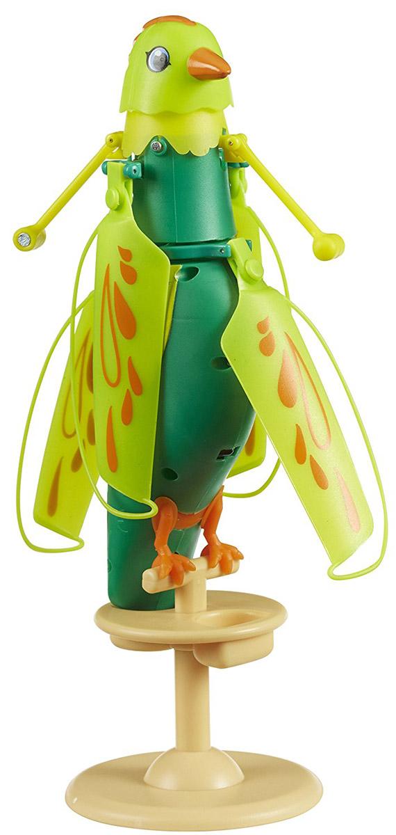 Zipppi Pets Интерактивная игрушка Летающая птичка цвет зеленый201505000Интерактивная игрушка Zipppi Pets Летающая птичка - это замечательная интерактивная птичка зеленого цвета. Эта птица может стать для ребенка настоящим и верным другом! С ней весело и интересно играть: погладьте птичку по голове один раз и она запоет, погладьте трижды - и она взлетит! Летает птичка за счет пропеллера, механизм которого расположен вокруг ее шеи. Игрушка выполнена из легкого, высококачественного пластика. Для удобства хранения игрушки в комплект также входит подставка-жердочка. Заряжается птичка с помощью USB-кабеля (входит в комплект).