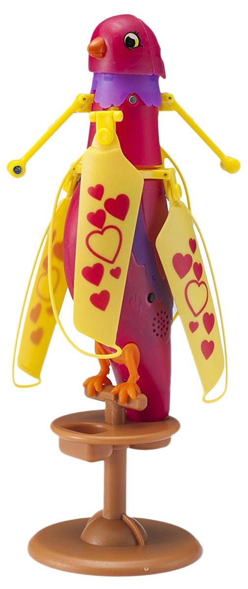Zipppi Pets Интерактивная игрушка Летающая птичка цвет малиновый201505002Интерактивная игрушка Zipppi Pets Летающая птичка - это замечательная интерактивная птичка яркого цвета. Эта птица может стать для ребенка настоящим и верным другом! С ней весело и интересно играть: погладьте птичку по голове один раз и она запоет, погладьте трижды - и она взлетит! Игрушка выполнена из легкого, высококачественного пластика. Для удобства хранения игрушки в комплект также входит подставка-жердочка. Заряжается птичка с помощью USB-кабеля (входит в комплект).