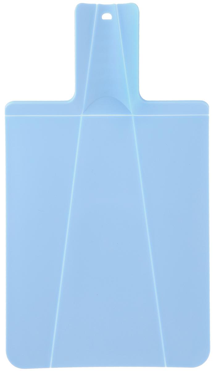 Доска разделочная Mayer & Boch, складная, цвет: голубой, 21 х 37 см22178_голубойРазделочная доска Mayer & Boch изготовлена из высококачественного полипропилена. Умный дизайн рукоятки позволяет с легкостью складывать, а также разворачивать доску. При сжатии ручки края доски складываются, образуя форму лотка. Это позволяет с легкостью и быстротой переносить нарезанные продукты. Такая доска не помнется, не сломается и не пойдет трещинами. Компактная доска Mayer & Boch прекрасно подойдет даже для небольшой поверхности стола и не займет много места при хранении.