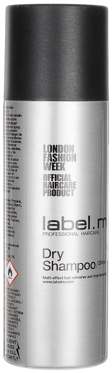 Label.m Сухой шампунь, 200 млLSDS0200Легкий микроспрей абсорбирует естественные загрязнения и остатки укладочных средств с сухих волос, позволяя освежить прическу, не прибегая к мытью головы. Создает матовую текстуру с пудровым эффектом.