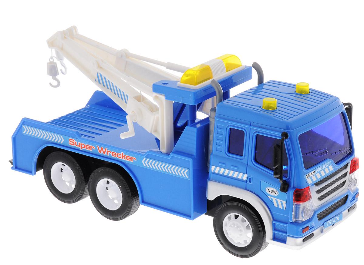 Dave Toy Эвакуатор инерционный33013Инерционный эвакуатор Dave Toy непременно понравится вашему ребенку. Эвакуатор выполнен из качественных и безопасных материалов. Прорезиненные колеса обеспечивают надежное сцепление с любой поверхностью. Модель эвакуатора имеет инерционный механизм: стоит немного отвести машинку назад или вперед и отпустить - она быстро поедет. Модель обладает световыми и звуковыми эффектами. Ваш ребенок будет увлеченно играть с машиной, придумывая различные истории. Порадуйте его таким замечательным подарком! Для работы игрушки необходимы 3 батарейки типа LR44/AG13 (товар комплектуется демонстрационными).