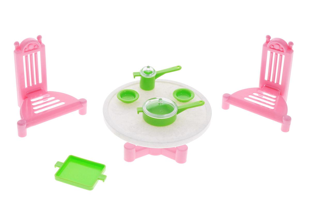 Форма Мебель для кукол ДачныйС-78-ФМебель для кукол Форма Дачный обязательно займет достойное место среди игрушек вашей девочки, украсит кукольный домик и разнообразит игры с ним. В комплект входят стол, 2 стула и 5 предметов игрушечной посуды. Все элементы набора выполнены из прочного и безопасного для ребенка материала. Порадуйте свою принцессу таким замечательным подарком!
