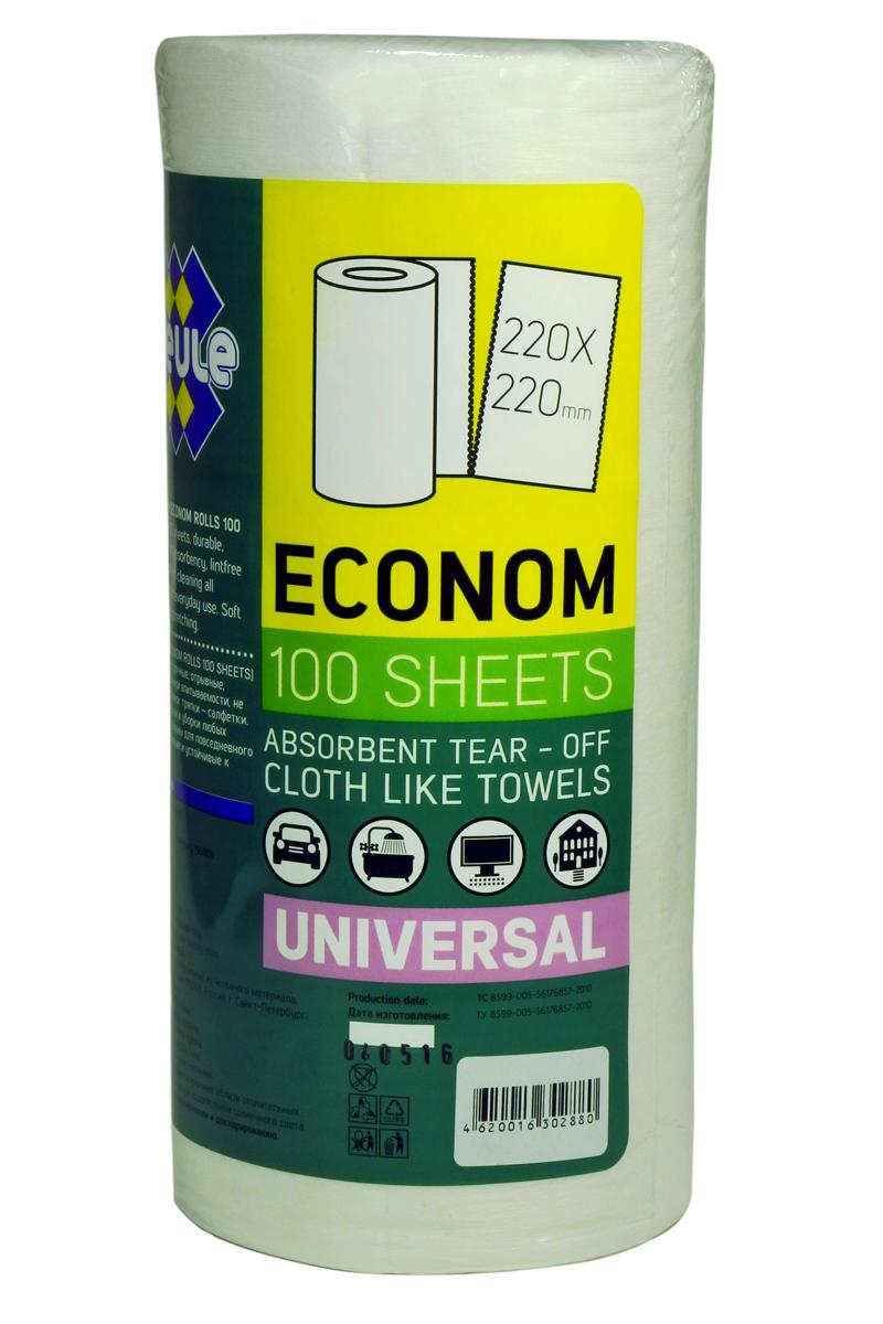 Салфетка для уборки Meule Econom, в рулоне, 22 х 22 см, 100 шт46200163028804620016302880 MEULE 100 л/рул. (ECONOM RAGS 100 SHEETS) Тряпки в рулоне 22х22 1/20