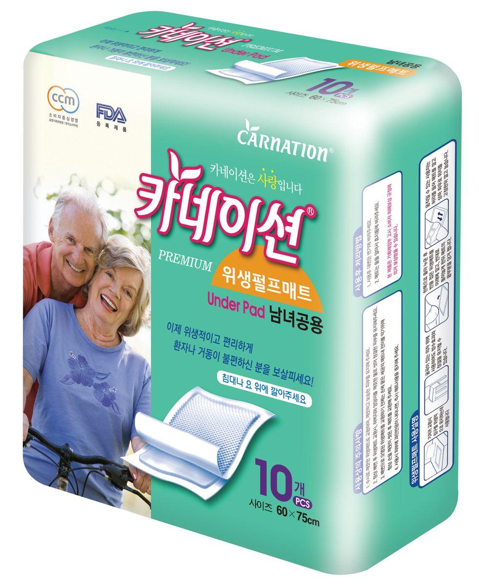 Carnation Гигиенические пеленки размер 60х75 см 10 шт
