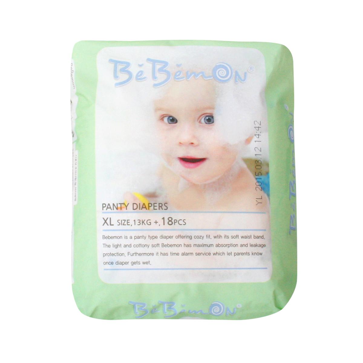 Bebemon Подгузники-трусики детские Panty 13-17 кг размер XL 18 шт