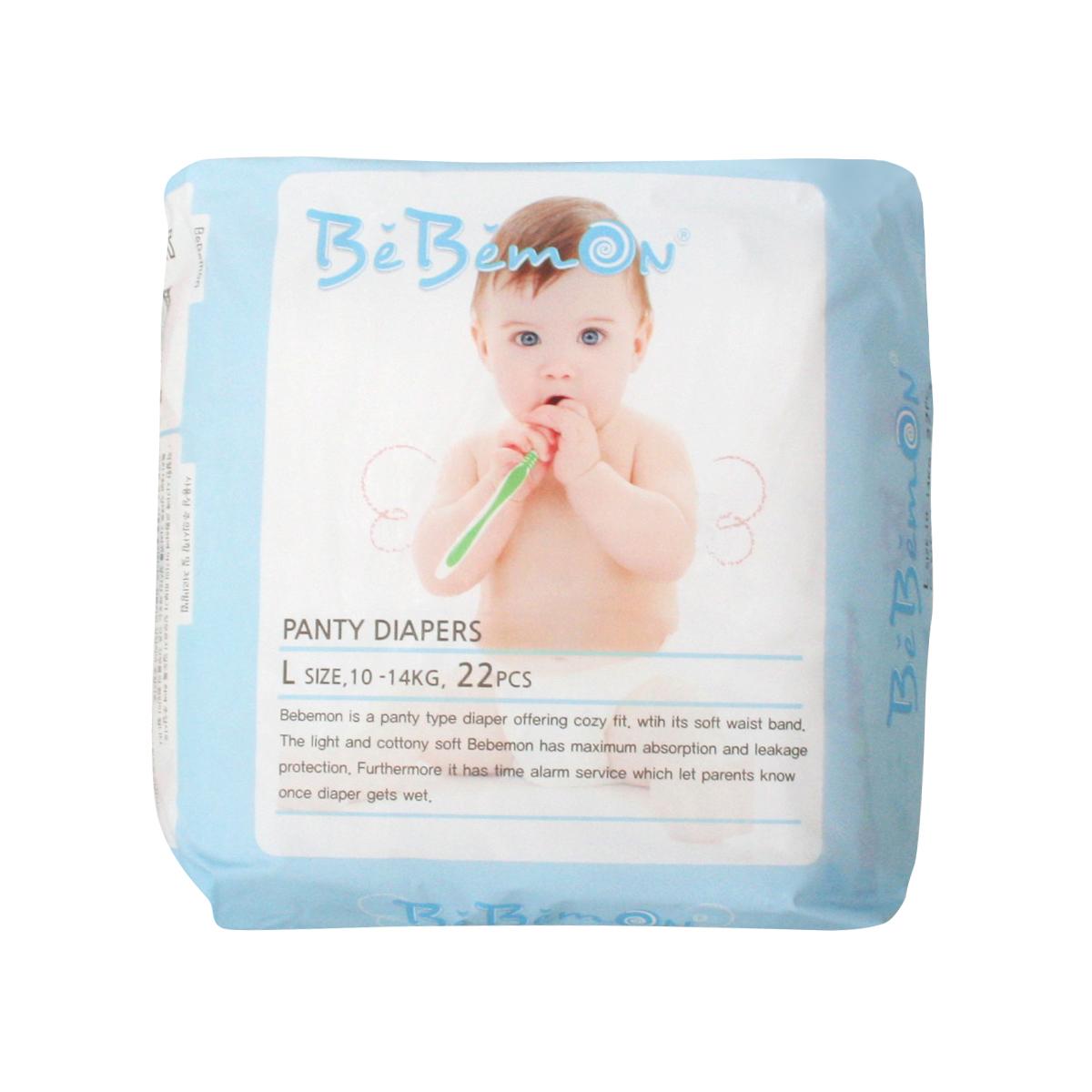 Bebemon Подгузники-трусики детские Panty 10-14 кг размер L 22 шт