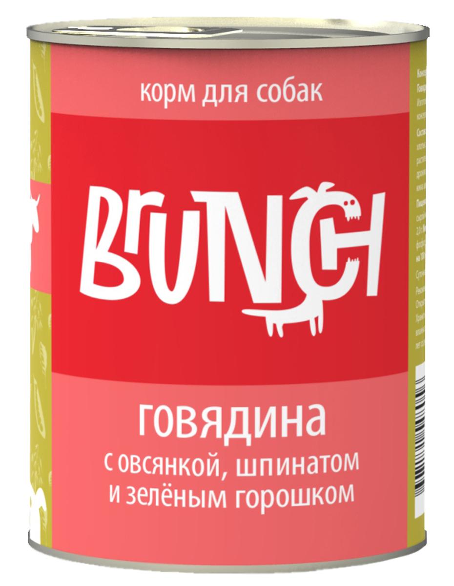 Консервы для собак Brunch, говядина с овсянкой, шпинатом и зеленым горошком, 340 г400109004Консервы Brunch для собак - полноценные мясорастительные корма из натуральных ингредиентов. Помимо мяса и субпродуктов, продукт содержит крупы (каши) и овощи. Рецептура является уникальной разработкой компании. Пропорции определены в соответствии с научными исследованиями, отвечают потребностям домашних животных в питательных веществах. Корм максимально приближен к полному рациону. Состав: говядина, сердце, рубец говяжий, овсяные хлопья, шпинат, зеленый горошек, морковь, масло растительное, желирующая добавка, рыбий жир, пивные дрожжи, йодированная соль, морские водоросли, розмарин, юкка шидигера, ферментированный рис, вода. Анализ: сырой протеин - 5,8 г, жир - 5,3 г, влага - 82 г, клетчатка - 0,5 г, сырая зола - 2,0 г. Минеральные вещества в 100 г продукта: общий фосфор - 0,6 г, кальций - 0,2 г. Товар сертифицирован.